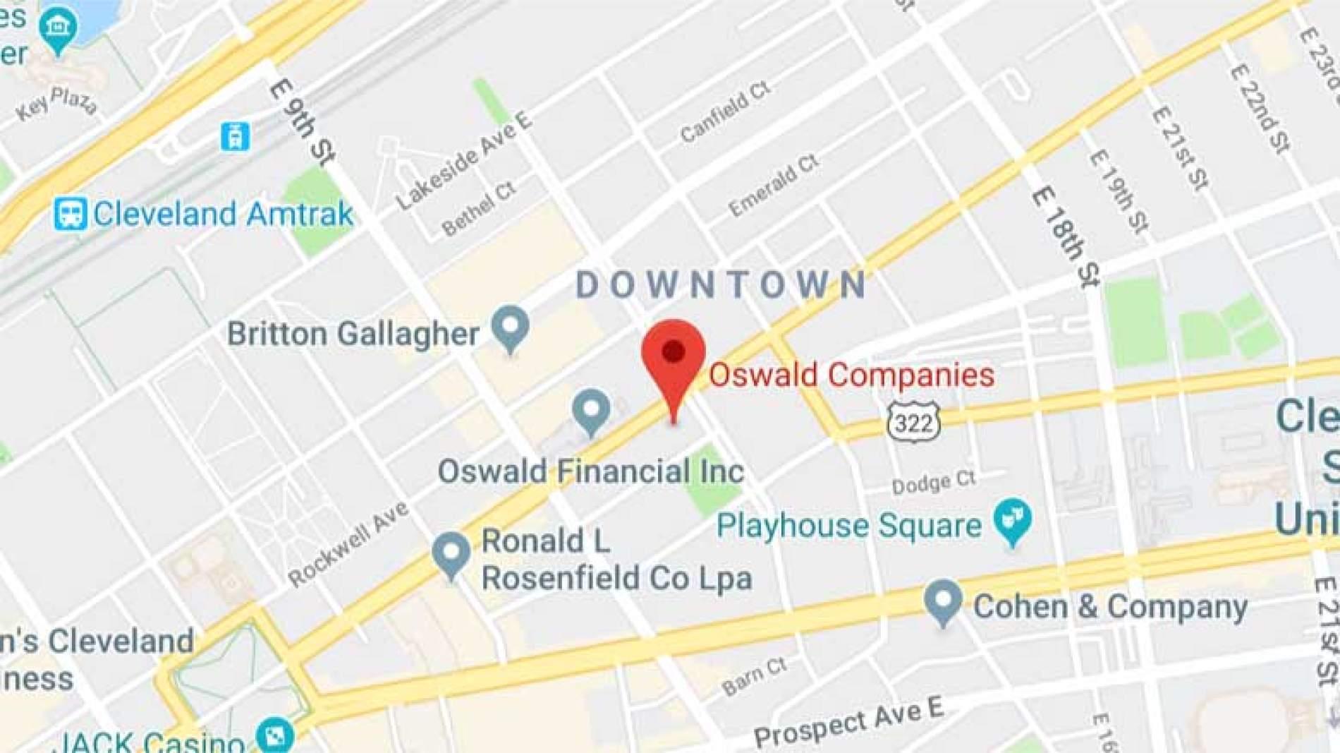 Oswald Cleveland Map