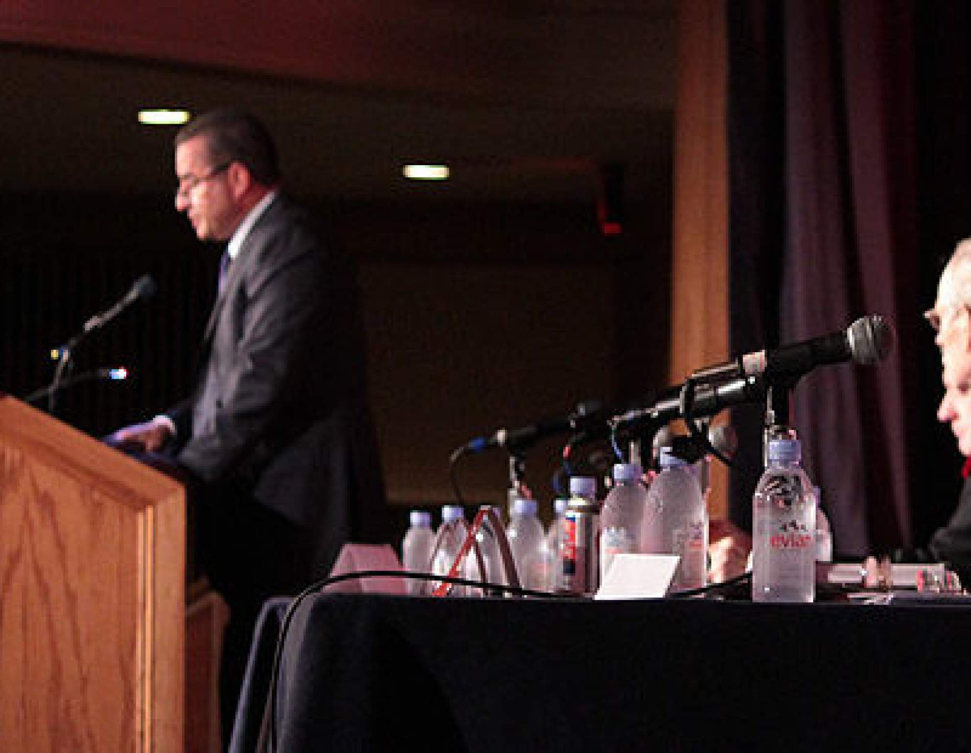 Bob Klonk speaking at a podium
