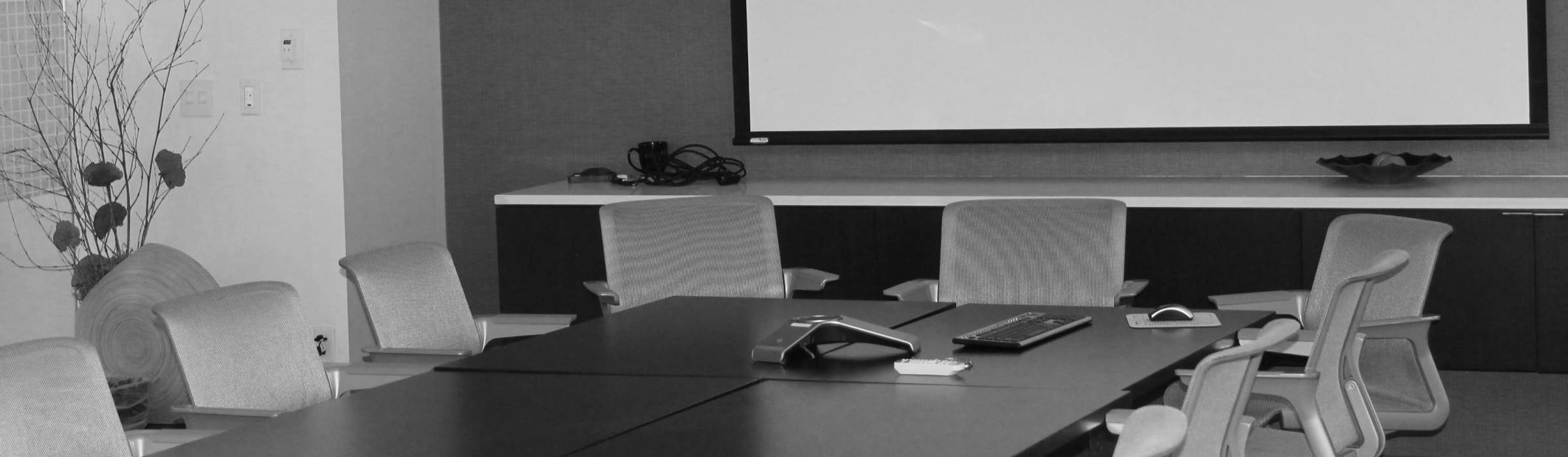 Empty conference table