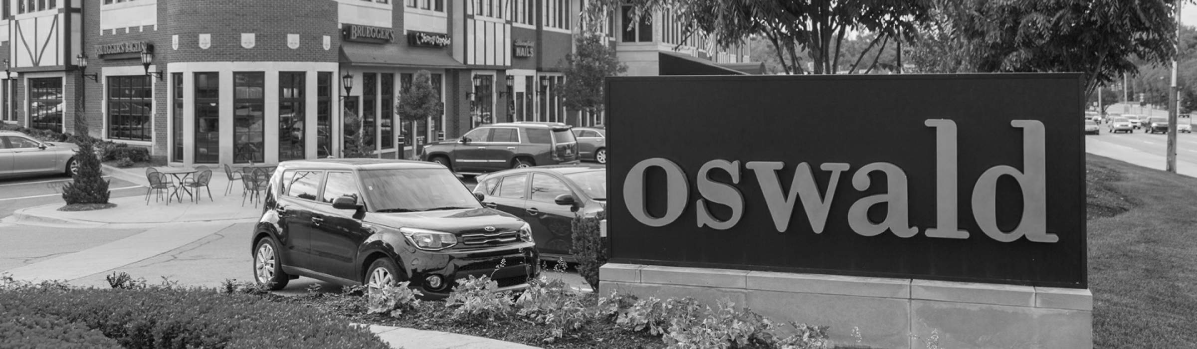 The outside of the Oswald Detroit offices