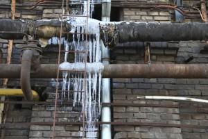 frozen pipe danger