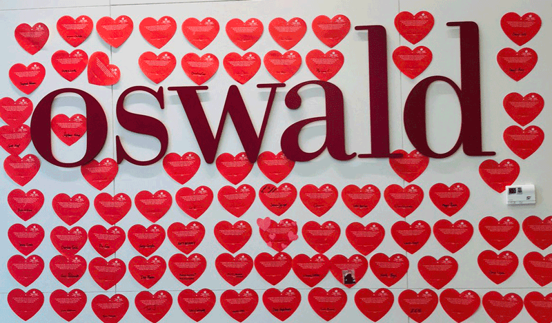 Oswald Goes Red for Heart Health   Oswald Companies
