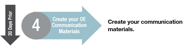Create Your OE Communication Materials
